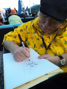 Eric Goldberg malt den Dschinni