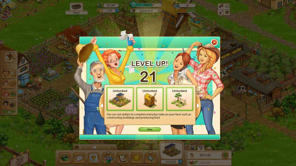 Goodgame Big Farm - Level up