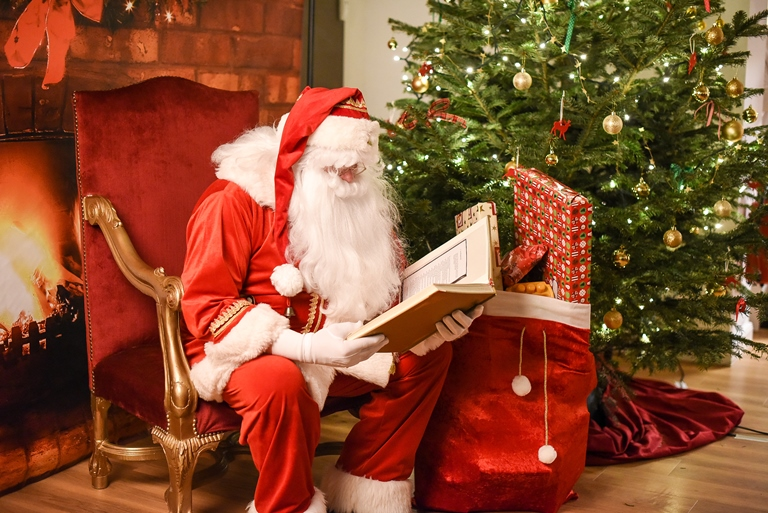 Santa and his golden book
